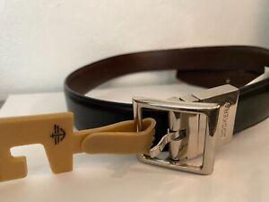 "Dockers Boys' Reversible Dress Belt Reversible Black/Brown, Med 26-28"" silver"