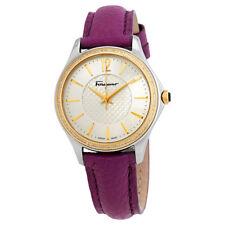 Ferragamo Time Silver Dial Ladies Diamond Watch FFV030016