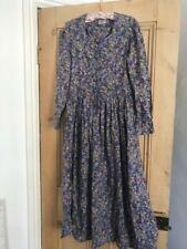 Vintage Laura Ashley Dress English ROSE Floral 1980s UK8-10