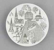 A small Rorstrand pin dish/wall plaque. Jonkoping / Husqvarna / Granna
