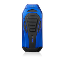 NEW Colibri Boss III Triple Jet Flame Lighter With Fold Out Cigar Cutter BLUE