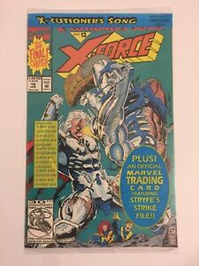 MARVEL COMICS X-FORCE #12 POLY-BAGGED SEALED WITH STRYFE CARD 1991