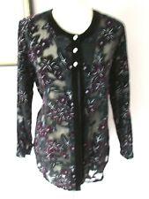 FAB CLOTHES CONTRACT BLACK GLISTENING VELVET DEVOUR EVENING TOP JACKET - Size 14