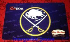TIM HORTONS CAFE & BAKE SHOP GIFT CARD BUFFALO SABRES NHL 2013 NO VALUE FD36427