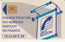 France télécarte 50 FRANCE TELECOM 600 AGENCES PARTOUT EN FRANCE