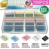 700PCS Waterproof Heat Shrink Butt Terminals Solder Seal Sleeve Wire Connectors