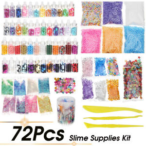 72 Pack Slime Beads Charms Include Slime Tools Foam Balls Fishbowl Pearls
