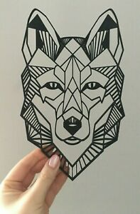 Geometric Wolf Animal Wall Art Decor Hanging Decoration Origami Style