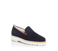 Paul Green Cailey Women's Perforated Platform Loafers Navy Size AT 7 US 9.5 M