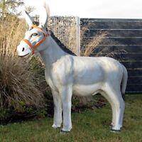 DEKO ESEL groß 100 cm Patina Garten Tier Figur Gartenfigur BAUERNHOF Dekoration