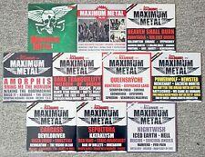 10 CD's • METAL HAMMER • MAXIMUM METAL • 180 BIS 189 • KOMPLETTER JAHRGANG 2013