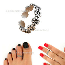 Daisy Antique Silver Adjustable Opening Finger Toe Knuckle Staking Ring Band