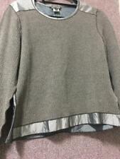 Rozae Nichols Taupe Waffle Weave Long Sleeve Sleeve Top Sz M