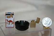 "New ListingCamel Cigarettes Ashtray & Flip Top Lighter For 18"" Doll 1:4 Artist T McColgan"