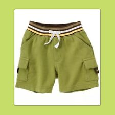 NWT 0-3 mos Gymboree TURTLE-Y CUTE Olive Green Cotton Knit Shorts turtle