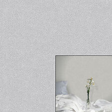 Crown Cotton Tweed Soft Grey White Paste The Wall Feature Wallpaper