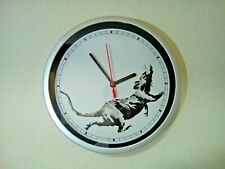Original Banksy Real Spray Painted Running Rat Clock Gross Domestic Product