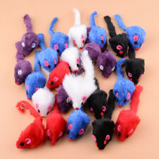 24Pcs Pet Furry Cat Toy Mice Rattle Small Mouse Kitten Interactive Play