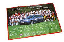 FC Bayern München 100 J. 2000 Poster Beilage Opel Start Auto PKWs Deutschland