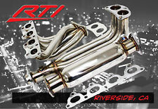 88-00 Honda Civic EK EM 4-2-1 Header+ High Flow Cat Stainless Steel SOHC D15 D15