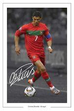 Cristiano RONALDO Portogallo AUTOGRAPH SIGNED FOTO Stampa Calcio