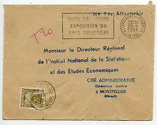 NE PAS AFFRANCHIR / TAXE / VILLEFRANCHE DE ROUERGUE / MONTPELLIER 1958