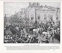 1897 Viktorianisch Aufdruck ~ QUEEN'S Besuchen IN The Isle Von Wight Plus