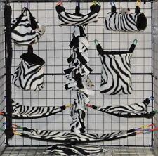 White Zebra *15 Pc Sugar Glider Cage set * Rat * double layer Fleece