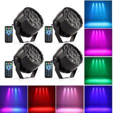 4pcs Music Active RGBW LED Lights Stage Effect Lighting Disco DJ Party Bar R6B0