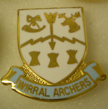 WIRRAL ARCHERS Enamel Lapel Pin Badge Hunting Shooting Fishing