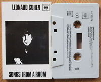 LEONARD COHEN - SONGS FROM A ROOM (CBS 4032074) 1980s CASSETTE TAPE REISSUE VG+
