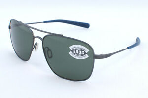 Costa Canaveral CAN185OGGLP 580G Sunglasses - Brushed Gray/Gray