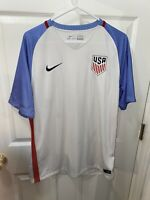 NWOT Mens Nike Swoosh USA Soccer Jersey Shirt Size Large White Dri Fit Football