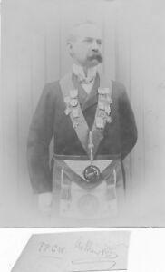 Original albumen print photograph Freemason Staffordshire lodge Named c1880 HPP2