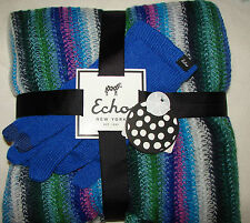 NEW ECHO NEW YORK $79  Ladies' round scarf and Smart Touch gloves 2 Piece Set