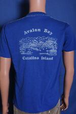 Vintage '80s Avalon Bay Catalina Island soft toursit souvenir blue t shirt M