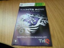 Xbox 360 manual: - Saints Row el tercer