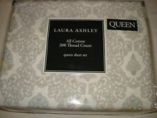 NEW Laura Ashley ANNALEE SCROLL Queen sheet set 300TC