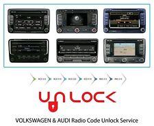 AUDI, VW radio unlock service code decode fast service volkswagen audi