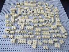 Lego - 100 Assorted Tan Bricks and plates - New Condition !!