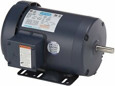 "1HP 1725RPM 56H 3PH 208-230/460V 5/8"" SHAFT TEFC LEESON ELECTRIC MOTOR #116757"