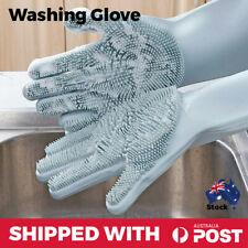 Silicone Dishwashing Gloves Dish Washing Cleaning Gloves Sponge Brush Non Slip