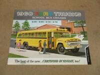 1960 Ford School Bus Chassis Trucks Sales Brochure  Original B500 B600 B700 B750