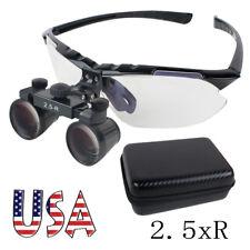Dental Surgical Medical Binocular Loupes 2.5X R (360~580mm) Adjustable +EVA Case