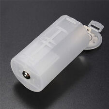 Hotsale White AA to D Size Battery Holder Conversion Adapter Switcher Converter