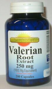 Valerian Root 1000mg 200 Capsules Max Strength  Relax, Sleep, Herb
