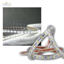 (10,5€/m) 5m LED Streifen flexibel kaltweiß 230V dimmbar IP44 Lichtband Stripe