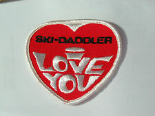 Ski-Daddler Ski Daddler Snowmobile Patch   I Love You