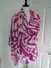 DVF Diane Furstenberg ROSA A CUORI Von modello Modal Cashmere Sciarpa Wrap Scialle