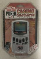 World Series of Poker Casino Calculator Platinum 5-in-1 Game Sealed